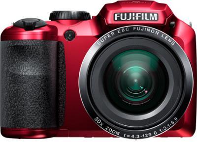 Компактный фотоаппарат Fujifilm FinePix S4800 Red - вид спереди