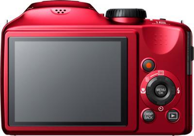 Компактный фотоаппарат Fujifilm FinePix S4800 Red - вид сзади