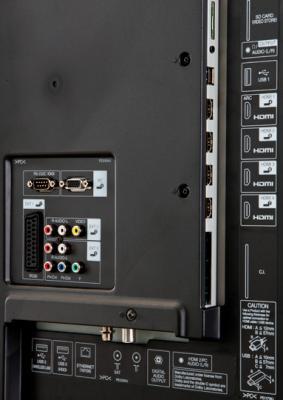 Телевизор Sharp LC-70LE741ERU - входы/выходы