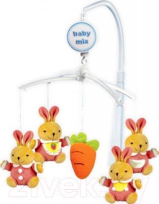 Каруселька на кроватку Baby Mix TK/708 (зайки с морковкой)