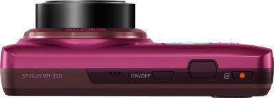 Компактный фотоаппарат Olympus VH-520 (красный) - вид сверху