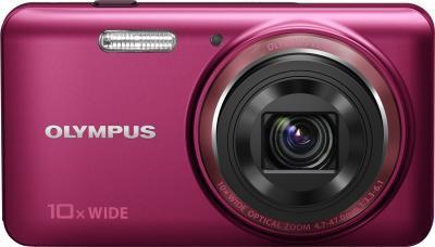 Компактный фотоаппарат Olympus VH-520 (красный) - вид спереди