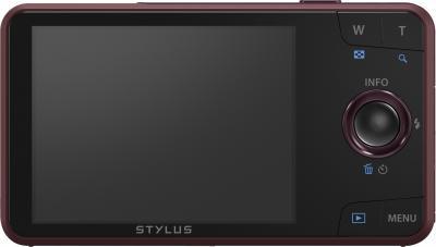 Компактный фотоаппарат Olympus VH-520 (красный) - вид сзади