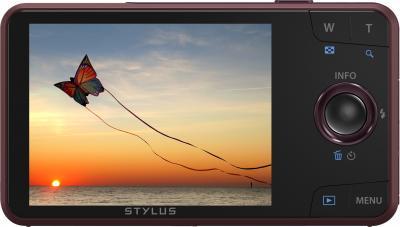 Компактный фотоаппарат Olympus VH-520 (красный) - дисплей