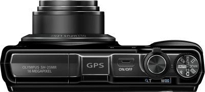Компактный фотоаппарат Olympus SH-25MR Black - вид сверху
