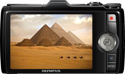 Компактный фотоаппарат Olympus SH-25MR Black - дисплей