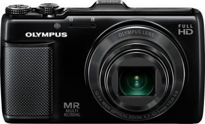 Компактный фотоаппарат Olympus SH-25MR Black - вид спереди
