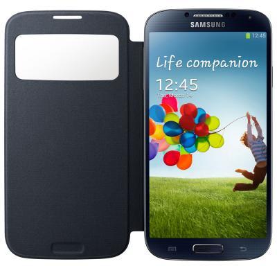 Чехол-книжка для Samsung I9500 Samsung EF-CI950BBEGRU Black - в развернутом виде