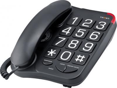 Проводной телефон TeXet TX-201 Black - общий вид