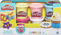 Набор для лепки Hasbro Play-Doh Пластилин 6 баночек с конфетти B3423 -