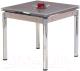 Обеденный стол Halmar Kent (бежевый/хром) -