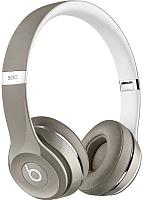 Наушники-гарнитура Beats Solo2 Luxe Edition / MLA42ZM/A (серебристый) -