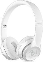 Наушники-гарнитура Beats Solo3 Wireless / MNEP2ZM/A (глянцевый белый) -