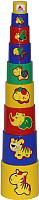 Развивающая игрушка Полесье Занимательная пирамидка №3 / 52582 (9эл) -