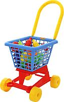 Детская тележка Полесье Тележка Supermarket №1 + набор продуктов 42989 -