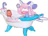Игровой набор Полесье №1 для купания кукол с аксессуарами и пупсом 47243 -
