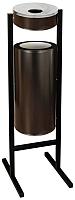 Мусорное ведро Титан Мета СЛП250 (черный) -