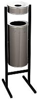 Мусорное ведро Титан Мета СЛ250 (черный/серый) -