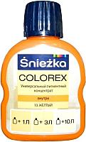 Колеровочный краситель Sniezkа Colorex 13 (100мл, желтый) -