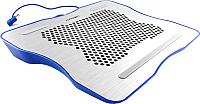 Подставка для ноутбука Crown Micro CMLC-1001 (серебристый/синий) -
