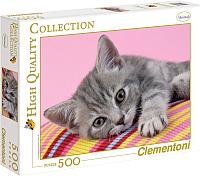 Пазл Clementoni Серый котенок 30362 (500эл) -