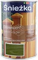 Защитно-декоративный состав Sniezkа Древкорн Expert (0.9л, зеленый) -