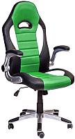 Кресло офисное Седия Neptun Eco (черный/белый/зеленый) -