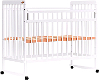 Детская кроватка Bambini Euro Style М 01.10.03 (белый) -