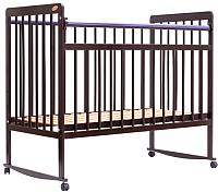Детская кроватка Bambini Euro Style М 01.10.03 (темный орех) -