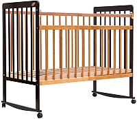 Детская кроватка Bambini Euro Style М 01.10.03 (темный орех/натуральный) -