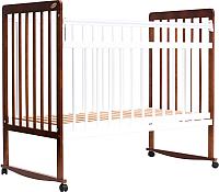 Детская кроватка Bambini Euro Style М 01.10.03 (белый/светлый орех) -