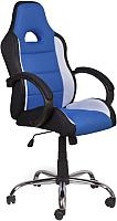 Кресло офисное Седия Tyrrell (черный/белый/синий) -