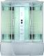 Душевая кабина Triton Альфа 150 (прозр. стекло/горизонт. полоса) -