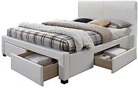 Двуспальная кровать Halmar Modena 2 (белый) -