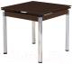 Обеденный стол Halmar Kent (коричневый/хром) -