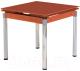 Обеденный стол Halmar Kent (оранжевый/хром) -