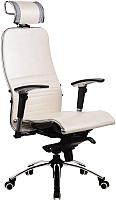 Кресло офисное Metta Samurai K-3 (белый лебедь) -
