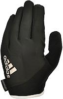 Перчатки для пауэрлифтинга Adidas ADGB-12422 (S, черный/белый) -