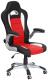 Кресло офисное Halmar Lotus (черный/красный) -
