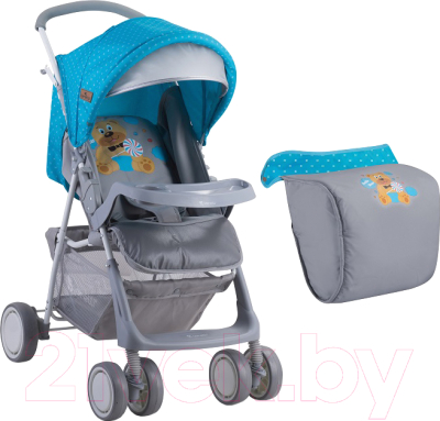 Детская прогулочная коляска Lorelli Terra 2017 Blue&Grey Hello Bear (10020961718A)