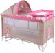 Кровать-манеж Lorelli Nanny 2 Rocker + Beige&Rose Princess (10080161703) -