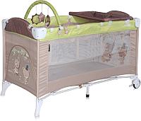 Кровать-манеж Lorelli Arena 2+ Beige&Green Bears (10080131629) -