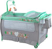 Кровать-манеж Lorelli Sleep&Dream Green&Grey Snail (10080311705) -