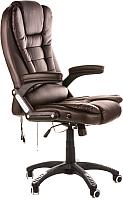 Кресло офисное Calviano Manager с массажем (коричнвый) -
