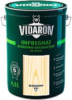 Защитно-декоративный состав Vidaron Impregnant V01 Бесцветный (4.5л) -