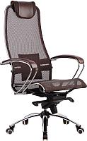 Кресло офисное Metta Samurai S1 (коричневый) -