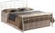 Двуспальная кровать Signal Siena 120х200 (белый) -