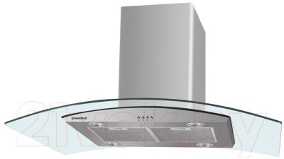 Вытяжка купольная Maunfeld PlusA Isla 90 (нержавеющая сталь/прозрачный)