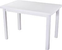 Обеденный стол Домотека Альфа ПР 04 (белый/белый) -