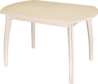 Обеденный стол Домотека Реал ПО 07 (молочный дуб/бежевый) -